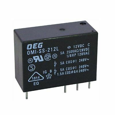 A range of Double Pole Double Throw DPCO Relays in 5v, 12v or 24volt 5 Amp rated