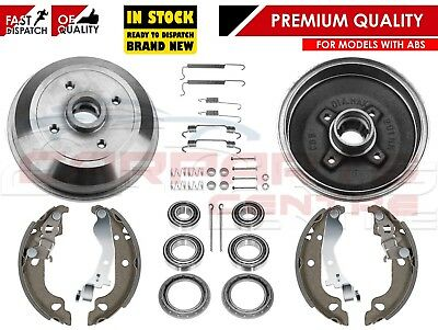 For Vauxhall Corsa B Tigra Rear Brake Shoes Drums Fitting Kit Bearings With Abs