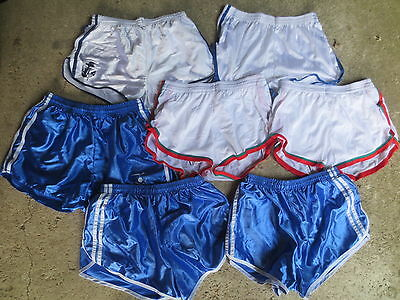 Lot 7 short VINTAGE ARMEE nylon polyamide bleu blanc 84 42 82/89 80 FRANCE