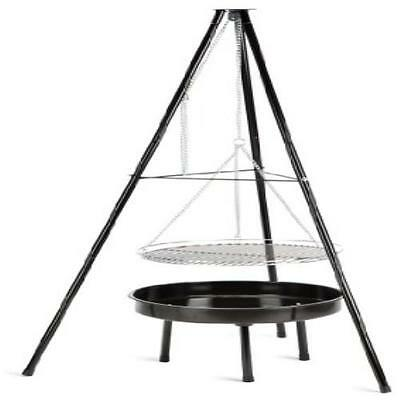 New Grill Bbq Landmann Tripod Charcoal Barbecue Cooking area of 50 sq cm UK