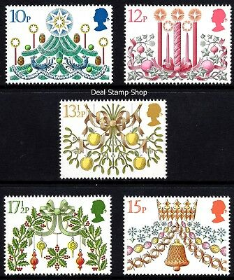 GB 1980 Christmas SG1138-42 Complete Set Unmounted Mint
