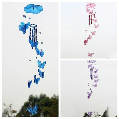 Crystal Butterfly Mobile Wind Chime Bell Garden Ornament Gift Hanging Decor