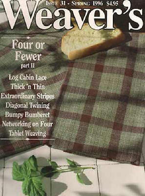 Weaver's magazine 31: FOUR OR FEWER pt2; log cabin lace