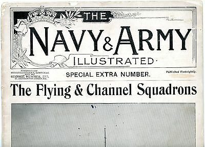 1900 THE NAVY & ARMY ILLUSTRATED Flying & Channel Squadrons photographs 18 pages