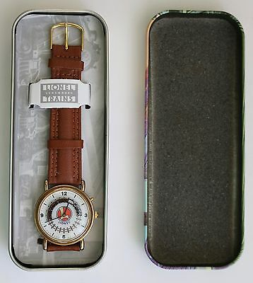 Lionel Collectible Legendary Train Watch ~ Brown Leather Band