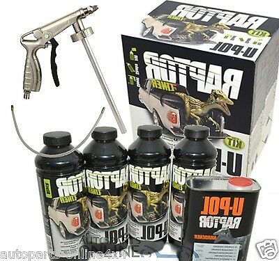 UPOL Raptor Ultra Tough Urethane Truck Bed Liner Coating & spray gun DA6382/6
