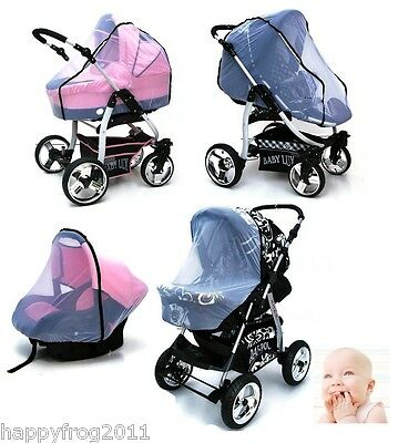 MOSQUITO NET Ideally adapts to the shape of any PRAM STROLLERS BUGGY CAR SEAT
