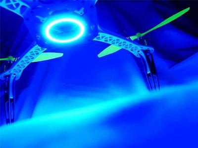 RC Night Flying 60mm Blue LED Ring 450 525 Quadcopter Tricopter Hexacopter UFO