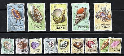 Kenya 1971 Good Fine Used Set To 20/-