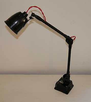 EDL E.D.L early 1940s Industrial Machinists Lamp Art Deco England Vintage
