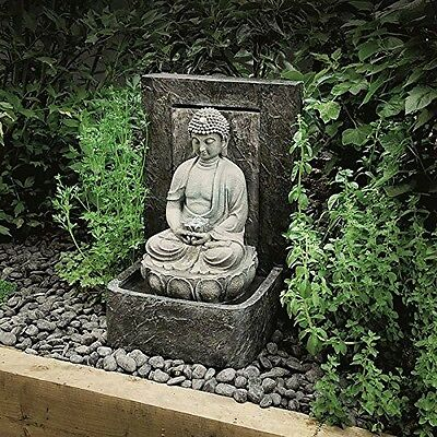 Buddha Water Feature Fountain Outdoor Garden Decoration Statue Pump Patio LED