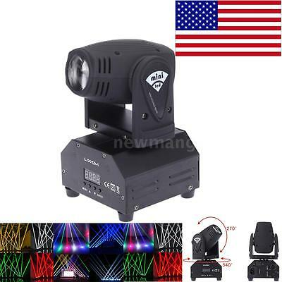 50W Moving Head LED Stage Effect Light DMX512 Color Changing Beam Lamp US D1F4
