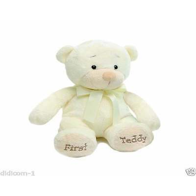 "Aurora First Teddy Bear 13"" for New Baby, Newborn Boy or Girl in Cream"