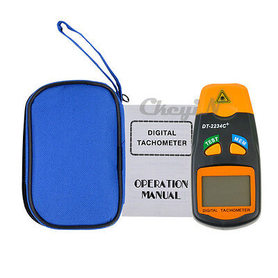 Digital Non Contact Laser Tachometer LCD Photo Tachometer RPM Meter Speed Gauge