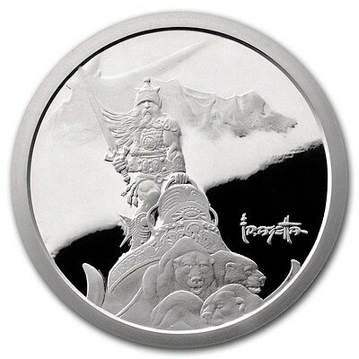 Silver Warrior 5 oz .999 Silver Proof Encapsulated Round USA Made Bullion Coin