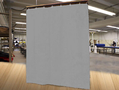 Economy Silver Curtain Panel/Partition, 15 H x 4½ W, Non-FR