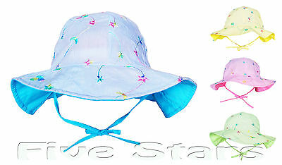 baby toddler kid girl sun hat cotton embroider summer floppy cap size 2-6 years