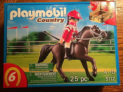 Playmobil 5112 Black Horse with Trainer & Stable