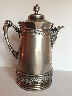Antique  Quadruple Plate WILCOX Silver Plate Co. # 387 Water Pitcher Coffee Pot