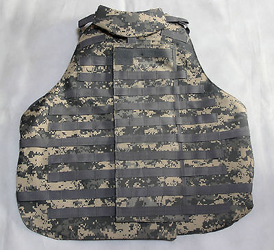 New Airsoft Molle OTV Vest ACU Size Large With 6 Pouches
