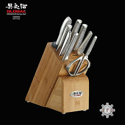 Genuine Global Takashi Knife Block Kitchen Set 10 Piece RRP $1349 Made in Japan