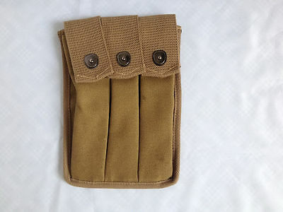 American Army Us Wwii Ww2 Thompson 3 Cell 30 Rounds Mag Ammo Pouch