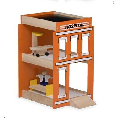 New dollshouse wooden Hospital furniture play fun pretent patient