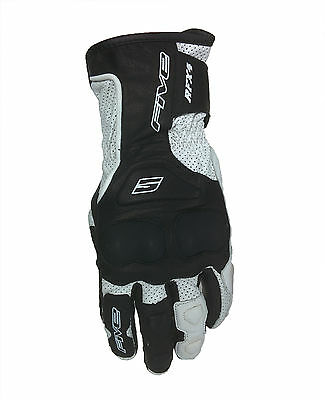 FIVE brand RFX-4 White Summer Motorcycles Gloves Vented Leather Road Street Tour