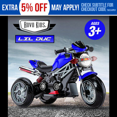 NEW ROVO KIDS Electric Ride On Motorbike - Toy Motorcycle Bike Battery Racing