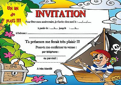 5 Ou 12 Cartes Invitation Anniversaire Pirate Ref 401 Eur 2 99