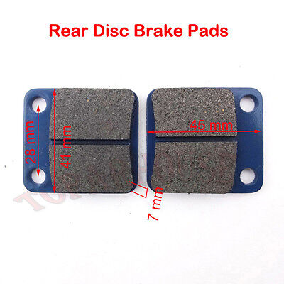 Rear Disc Brake Pads For 50cc 90 110 125 150 160 cc Pit Dirt Bike Go Kart Buggy