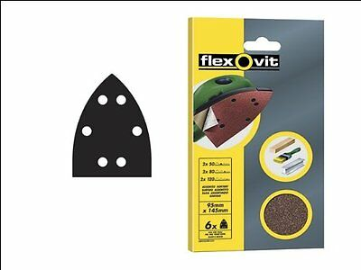 95mm x 145mm Detail Sander Sheets - Sanding Pads - Hook and Loop Back
