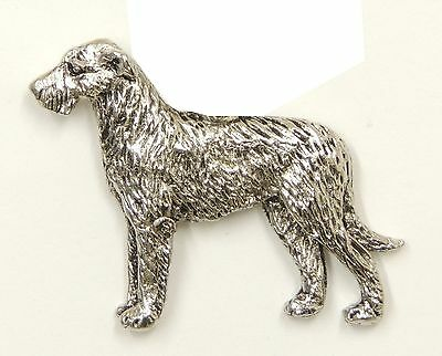 Irish Wolfhound Brooch, Silver Plated