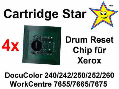 Set 4x Drum Trommel OPC Reset Chip für Xerox DocuColor DC 240 242 250 252 260