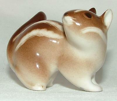 Lomonosov Russian Porcelain Animal Figure Chipmunk Head Turned