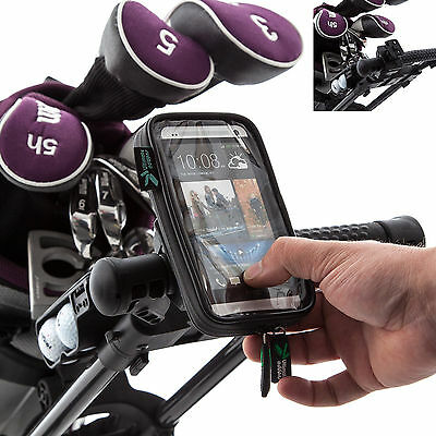 Ultimate Addons Pro Golf Mount + Water Resistant Case for HTC One Mobile Phone