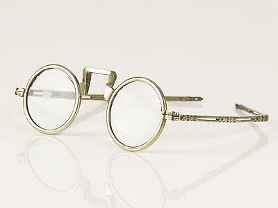 c1810 Chinese White Metal and Glass Reading Spectacles