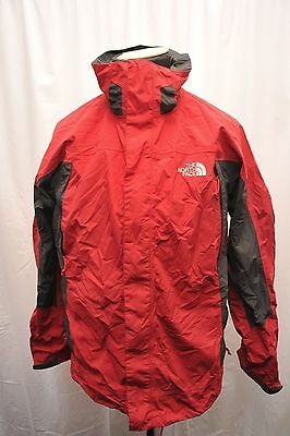 North Face Mens Large Hyvent Jacket Red / Grey Waterproof Hiking Fu91