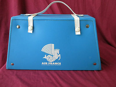 Ancienne Valisette Vanity Case De Poupee Jouet Air France Logo Crevette