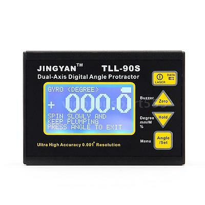 TLL-90S Angle Meter Dual-axis Digital Laser Inclinometer Protractor N6V8