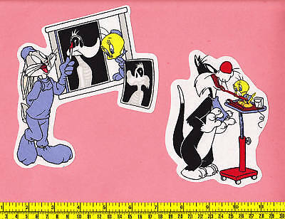 Tweety Sylvester Dentist Xray Fabric Iron Ons Appliques