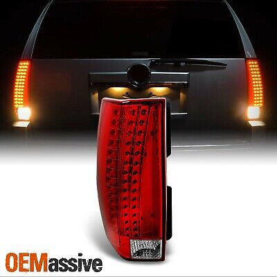 07-13 Cadillac Escalade Red Clear Rear LED Taillights Driver Side Replacement