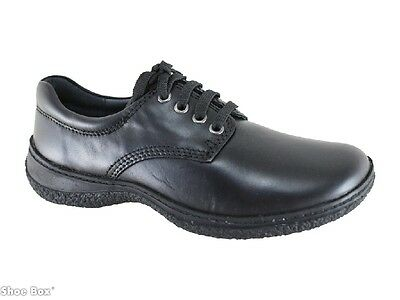 Grizzly Bonzer Girl's Leather Lace School & Work Shoe Womens US 5-11