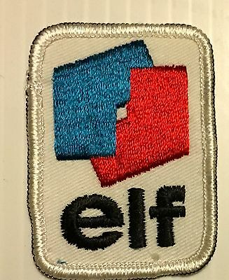 Elf Gasoline Patch Embroidered Oil 2-7/8 inches Original