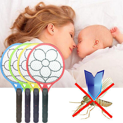 Cordless Electric Pest Bug Zapper Mosquito Insect Fly Swatter Racket Killer New