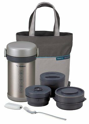 Zojirushi Ms Bento Stainless Steel Vacuum Lunch Jar Bag Insulated Food Thermos