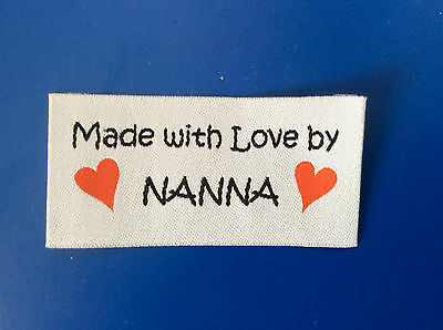 5 Woven NANNA Labels for Clothing, Knitting, Quilting and Craft