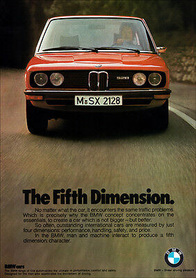 Bmw E12 5 Series 528 Retro A3 Poster Print From Classic Advert