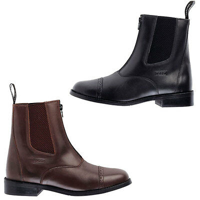 Toggi Augusta Zip Leather Jodhpur Boots,All Sizes,Black or Brown,Adults