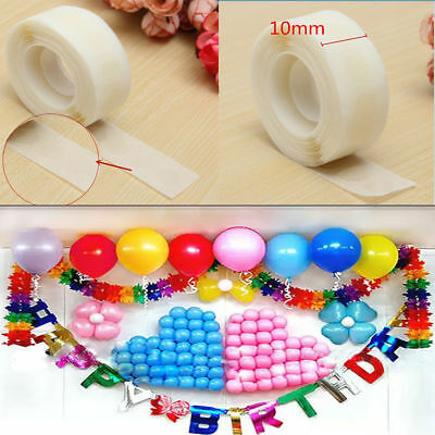 250 Clear Double Sided Tape Adhesive Dot Scrapbook Sticky Circle Roller 10mm